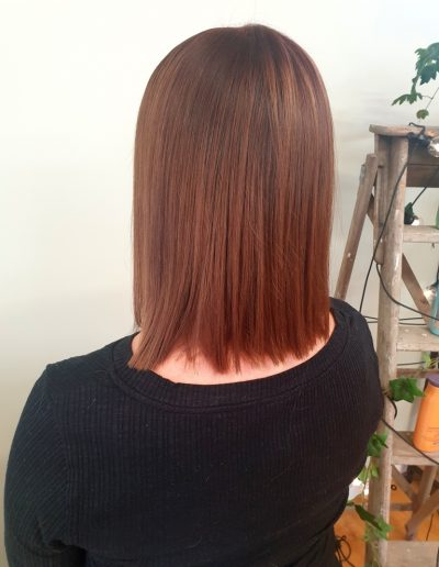 straight smooth copper mahogeny cut colour